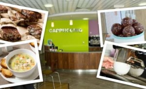 Whatever you're in the mood for, we're sure that you'll find something that you'll love at café Cappuccino. Eat in or grab a bite to take away. Our yummy food will put you in a great mood!